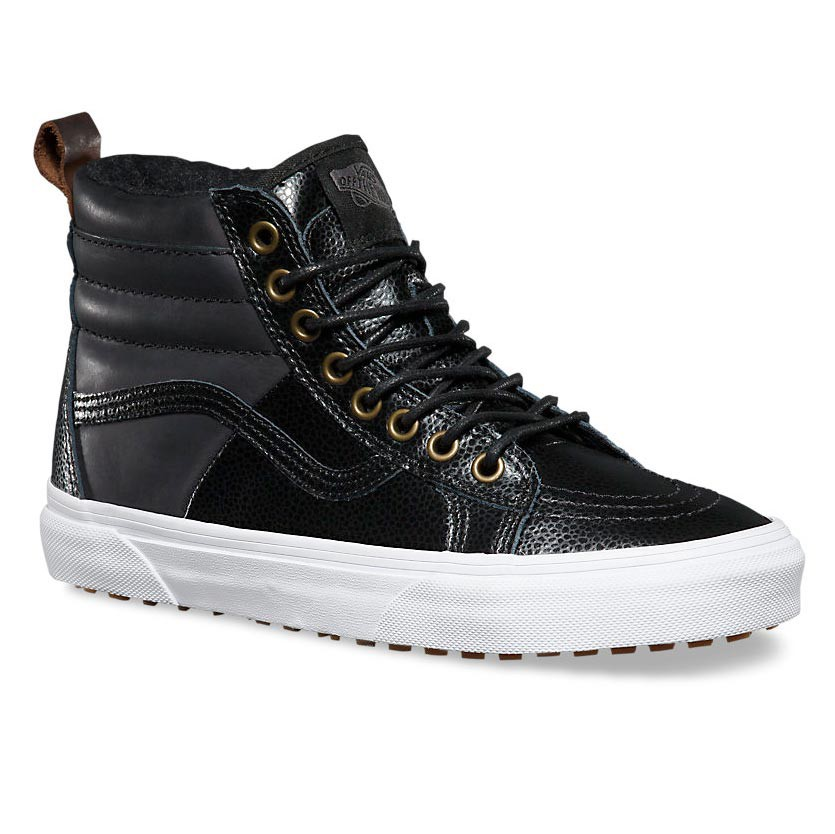 Vans Black Leather Shoes Uk