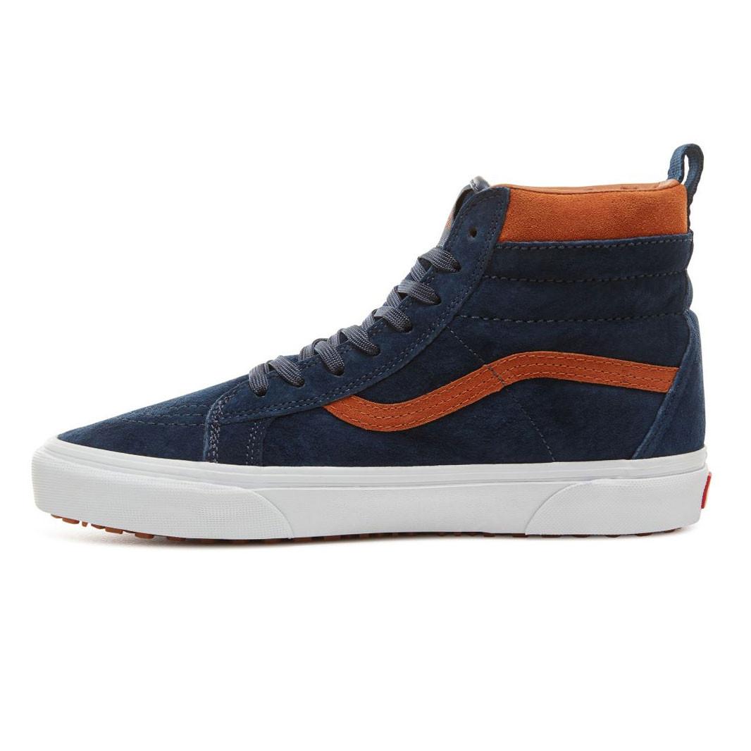 f8ed00085da Skate shoes Vans Sk8-Hi Mte suede dress blues