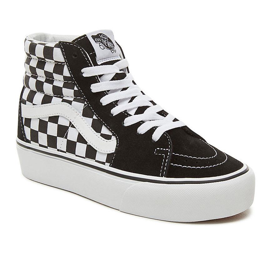 1f6a9a7ac3 Sneakers Vans Sk8-Hi Platform 2 suede checkerboard true white ...