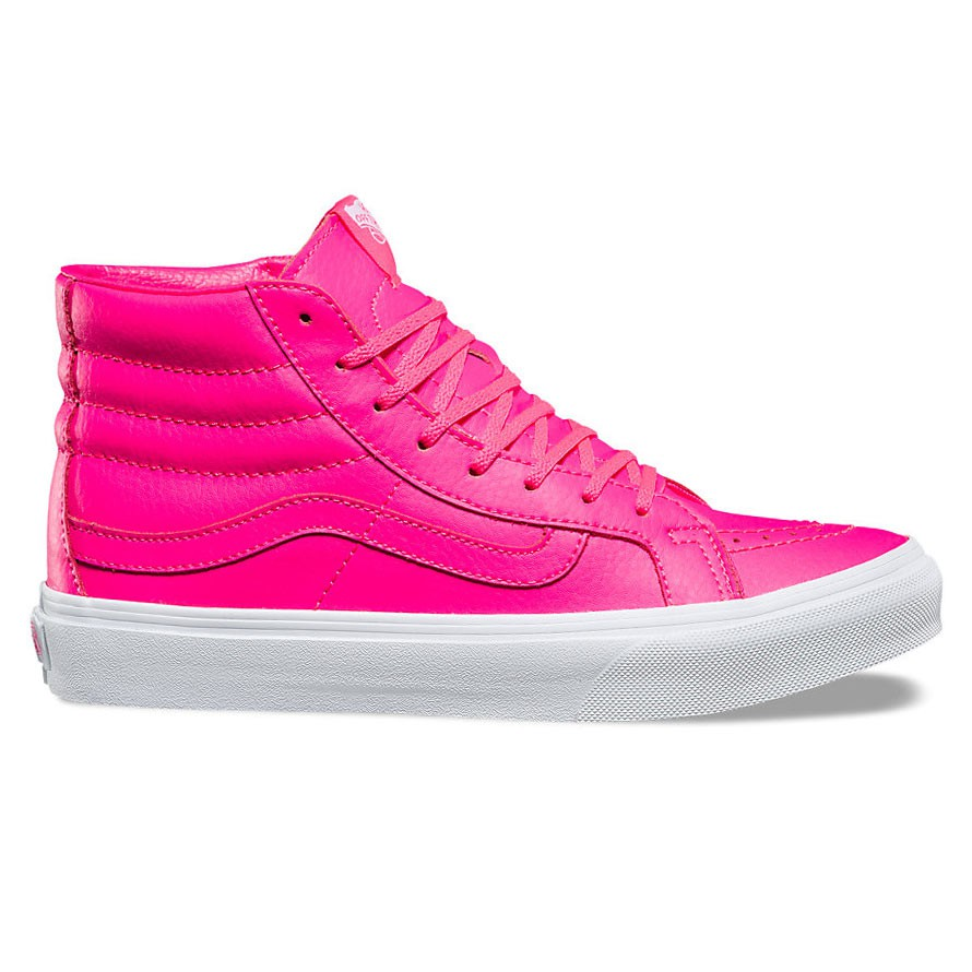 vans pink and white. sneakers vans sk8-hi slim pink and white v