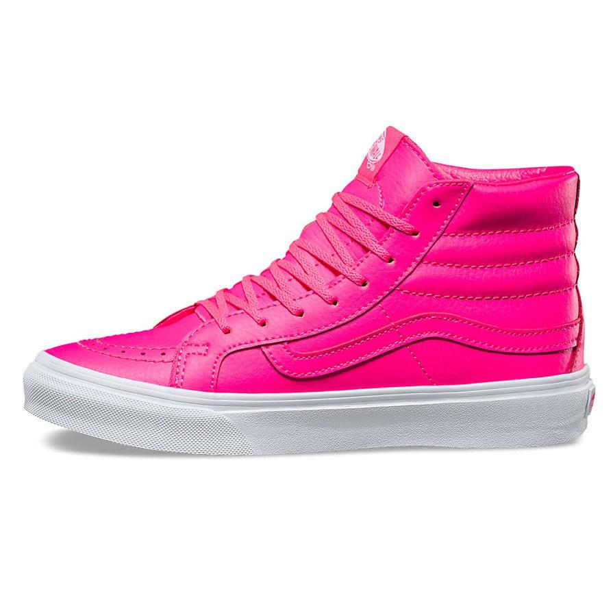 vans sk8 hi neon pink