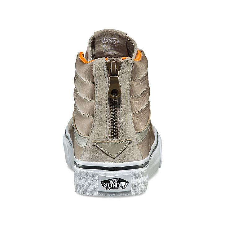 Tenisky Vans Sk8-Hi Slim Zip boom boom silver sage true white ... 28de98f2b5e