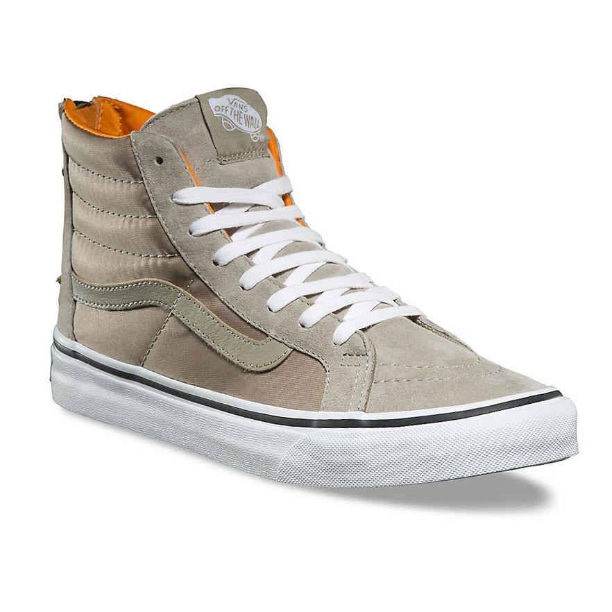 Vans Sk8 Hi Slim Zip Shoes UK 4 Boom Boom Silver Sage True White 10bnxaw18