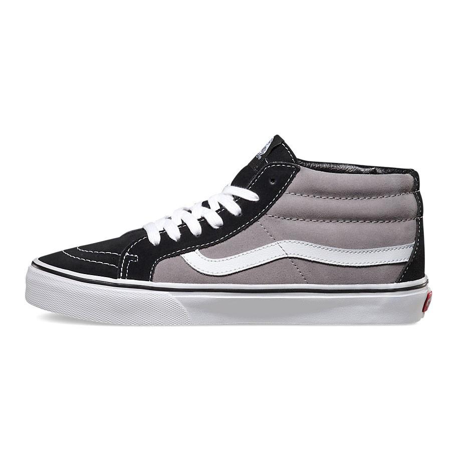 7509e163d64044 Vans Sk8-Mid Reissue suede black frost grey