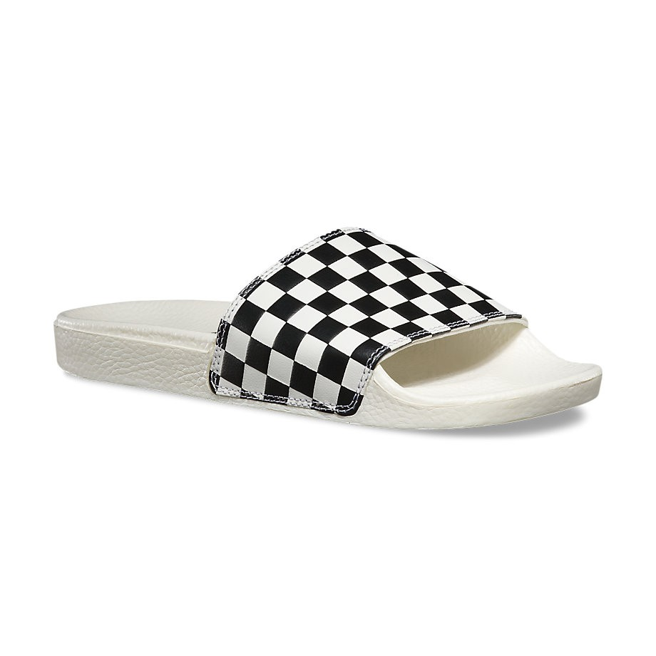 Žabky Vans Slide On Wms checkerboard white/black
