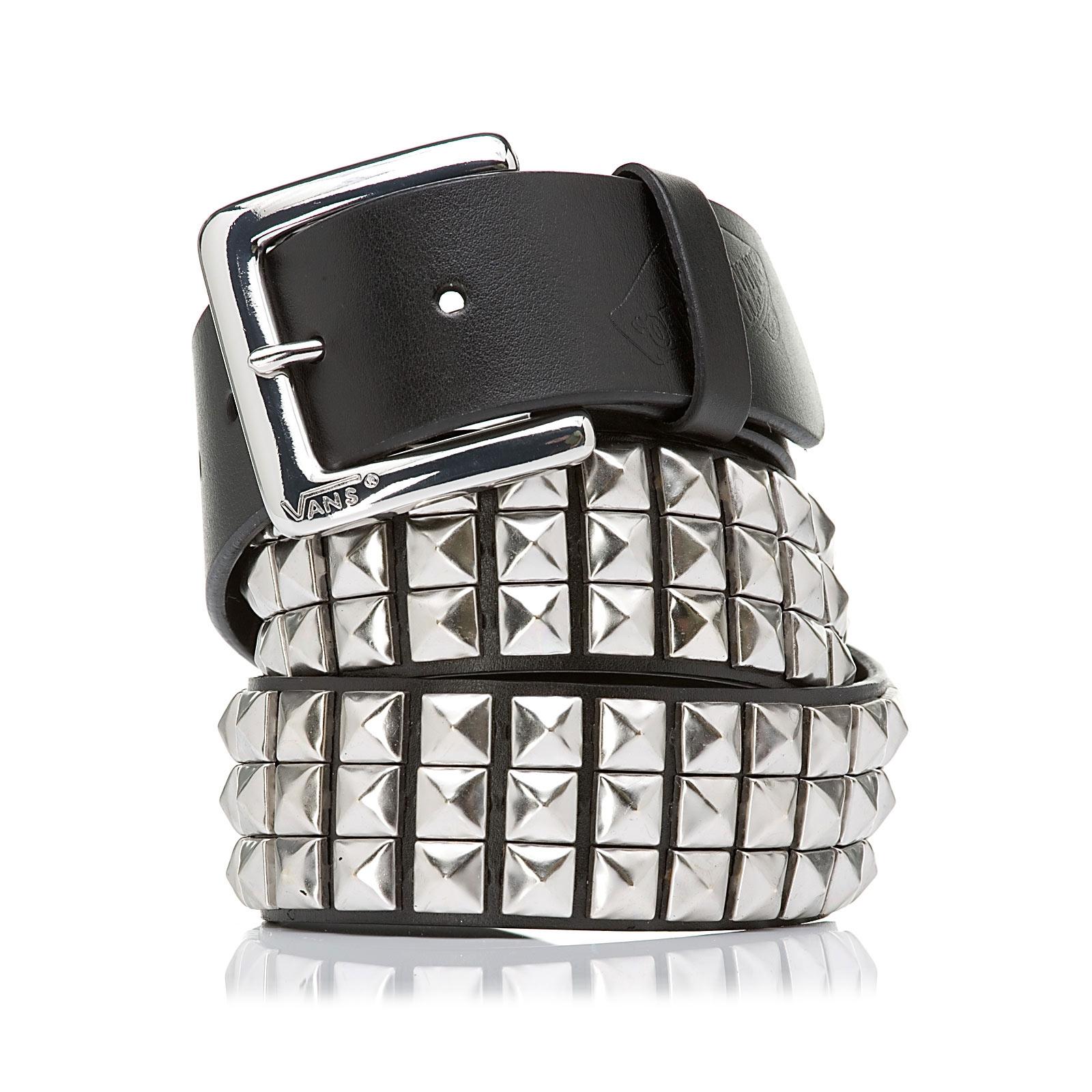 0b53a00bd5 Vans Studded Leather Belt Eu black silver