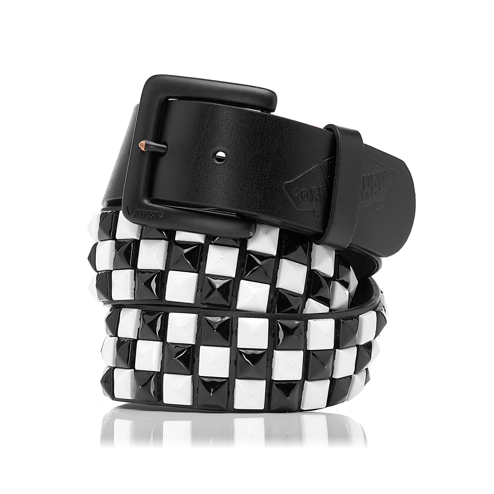 614b5ceecd Vans Studded Leather Belt Eu black white