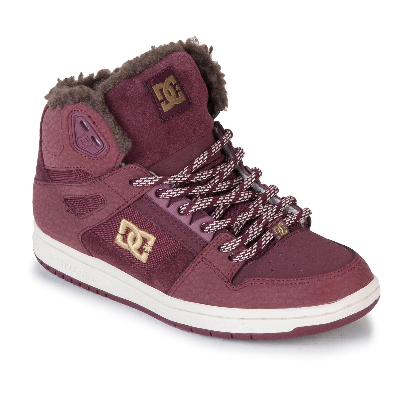 Zimní boty DC Rebound High Wnt maroon