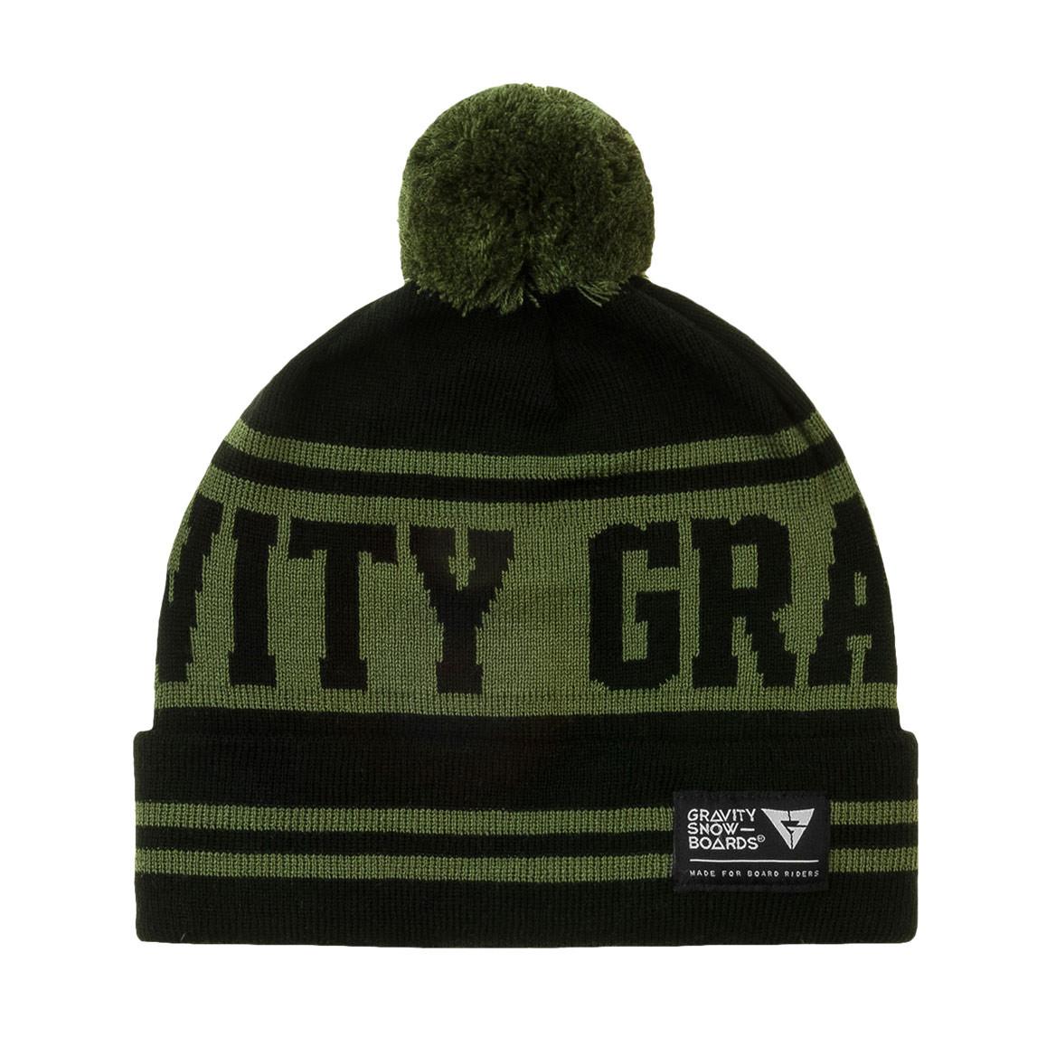 Zimní čepice Gravity Buddy black/olive
