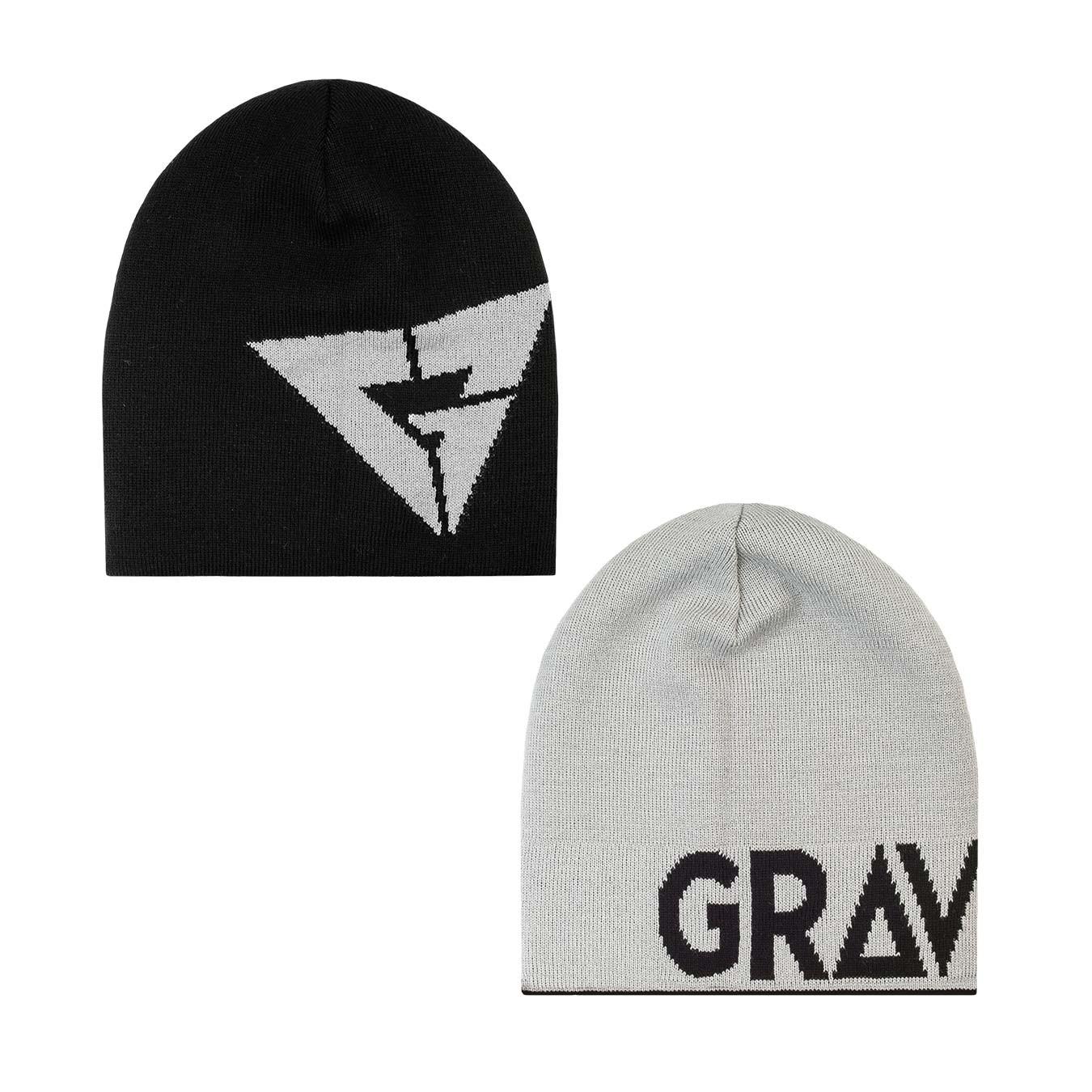 Zimní čepice Gravity Logo Reversible black/grey