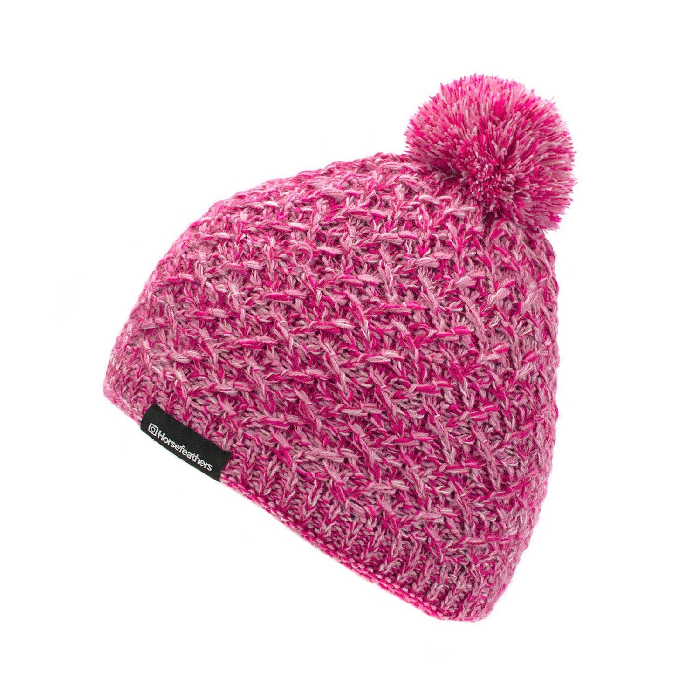 Zimní čepice Horsefeathers Kristel pink
