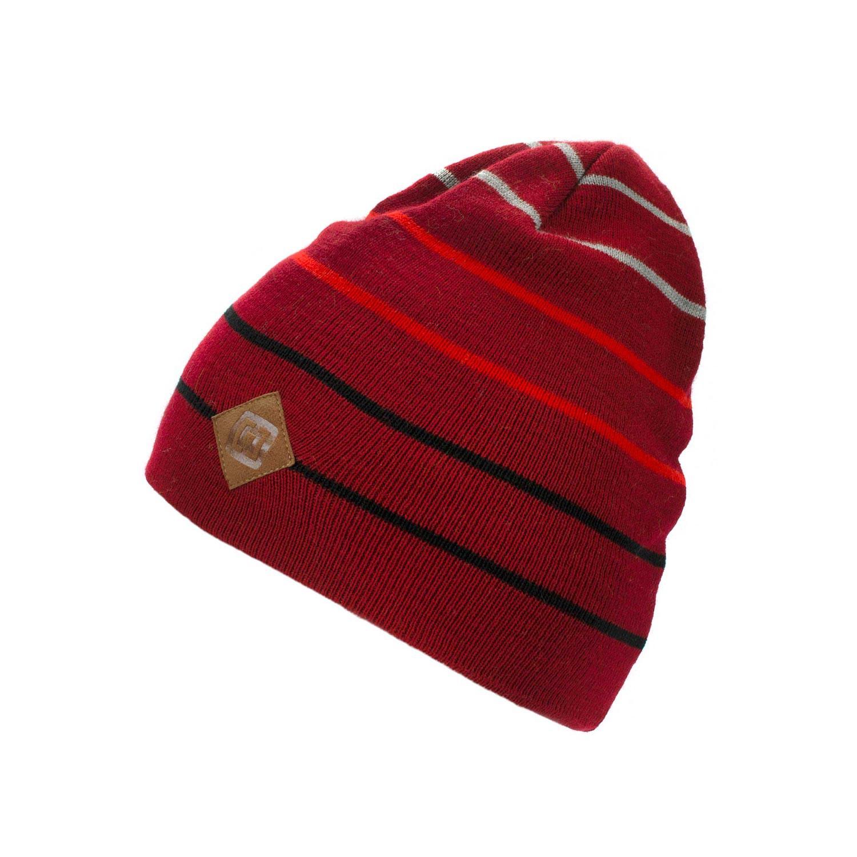 Zimní čepice Horsefeathers Landon dark red 16/17 + doručení do 24 hodin