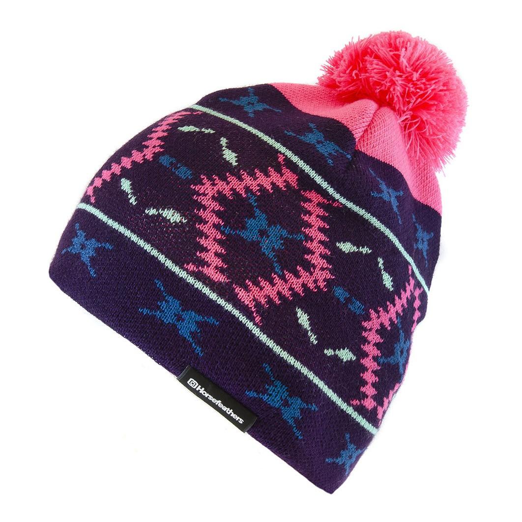 Zimní čepice Horsefeathers Marge blackberry 15/16 + doručení do 24 hodin