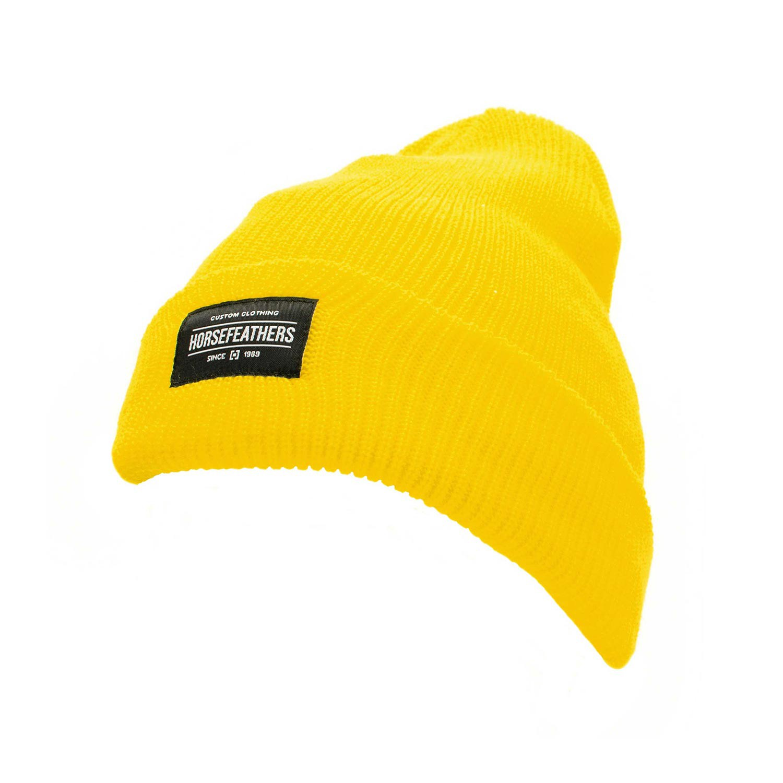 Zimní čepice Horsefeathers Tina yellow