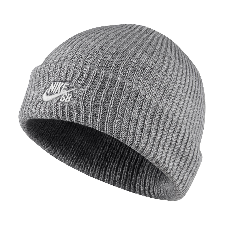 Zimní čepice Nike SB Fisherman dk grey heather/white