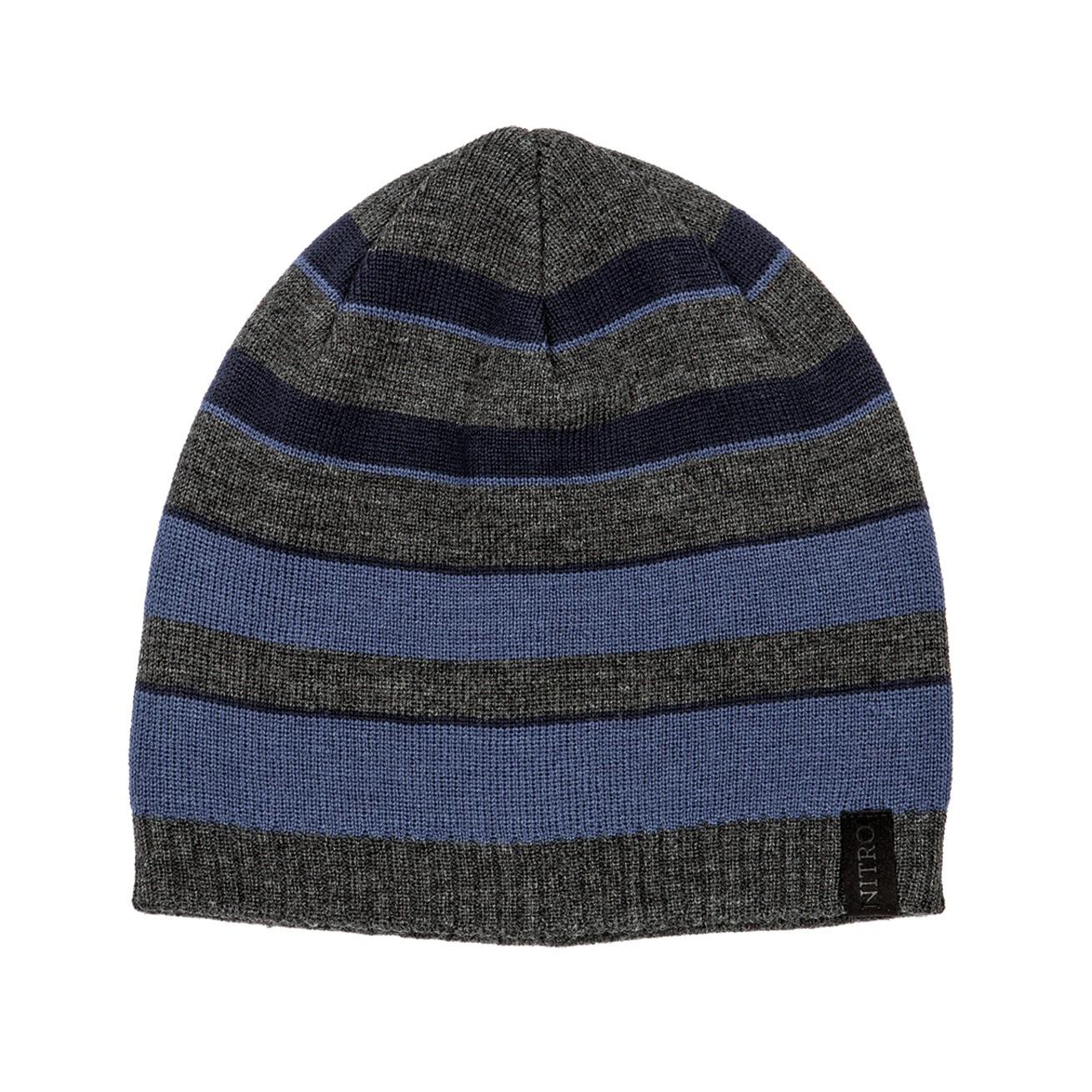 Zimní čepice Nitro Stripes heather smoke/navy