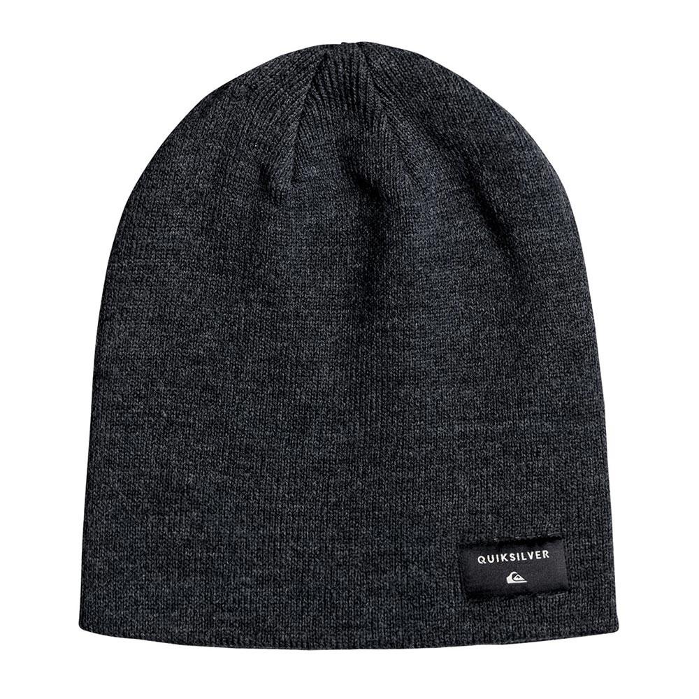 Zimní čepice Quiksilver Cushy Slouch dark charcoal heather