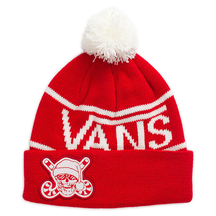 Vans Holiday Pom Beanie racing red  910c1da30b38