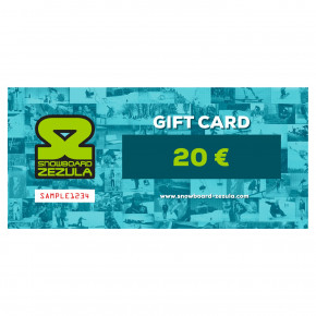 Go to the product Gift cards Snowboard Zezula 20 Eur