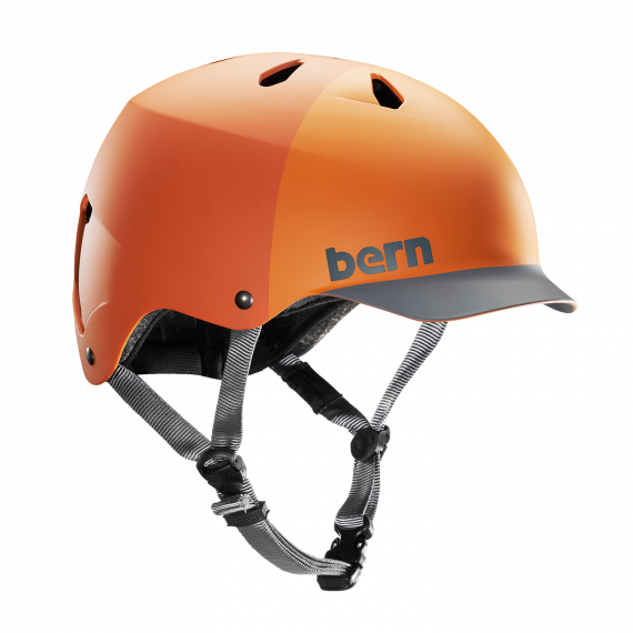 Bern Watts H2O matte orange hatstyle 2018